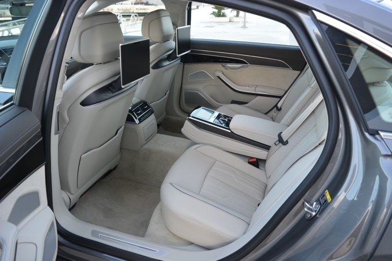 PD website road test Audi A8L rear seat