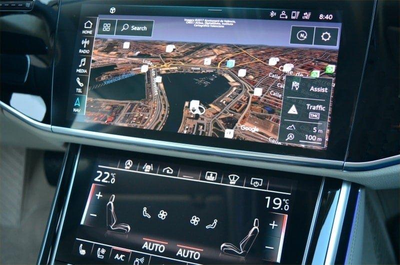 PD website road test Audi A8L satnav