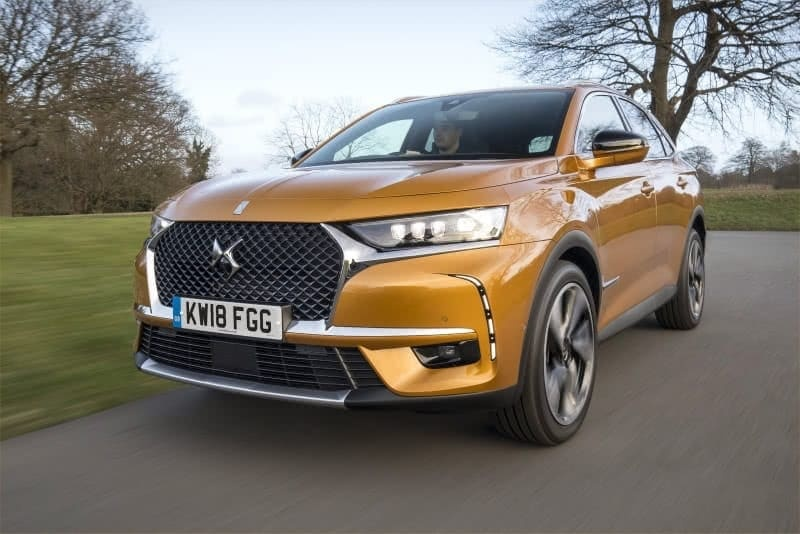 PD website road test DS7 Crossback front view
