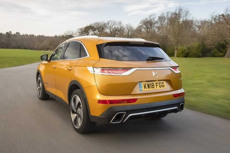 PD website road test DS7 Crossback rear view