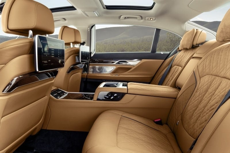 PD website news BMW 7 series rear seat