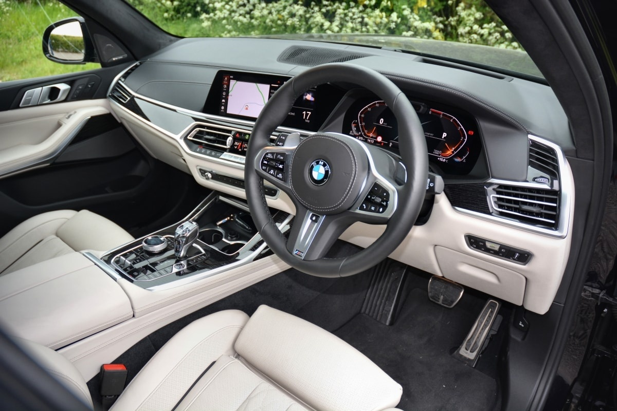 BMW X7 front seat