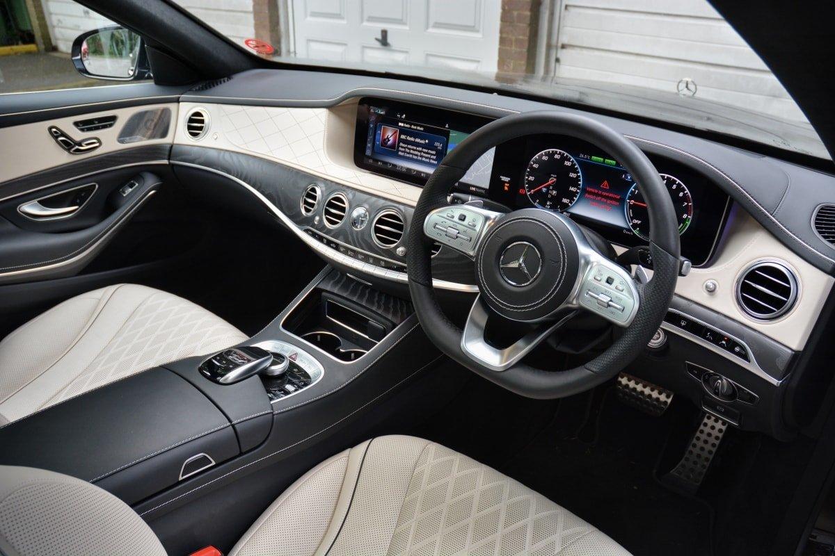 Mercedes S560e front seat