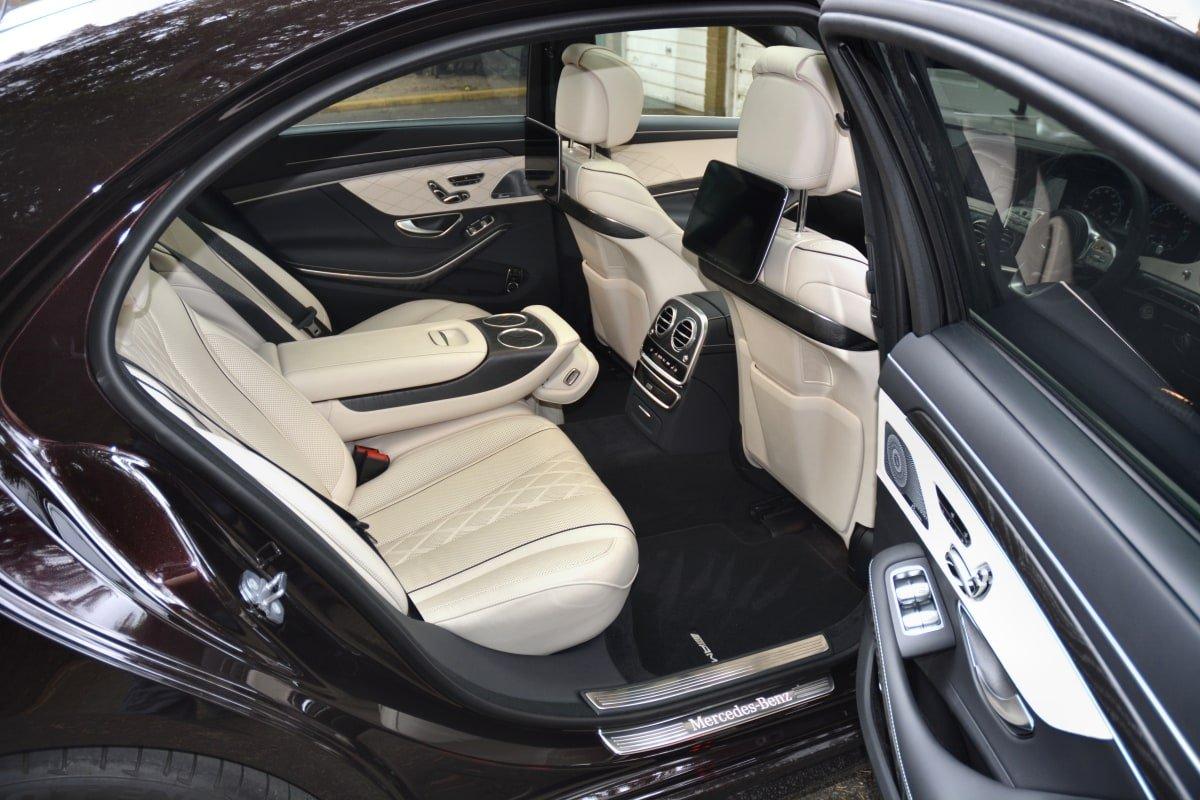 Mercedes S560e rear seat