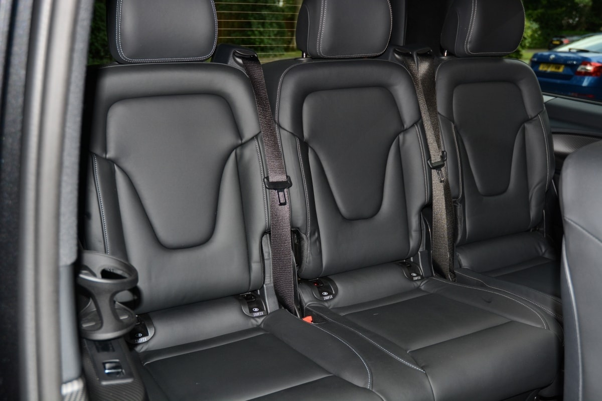 PD website road test Mercedes V-Class third row seats