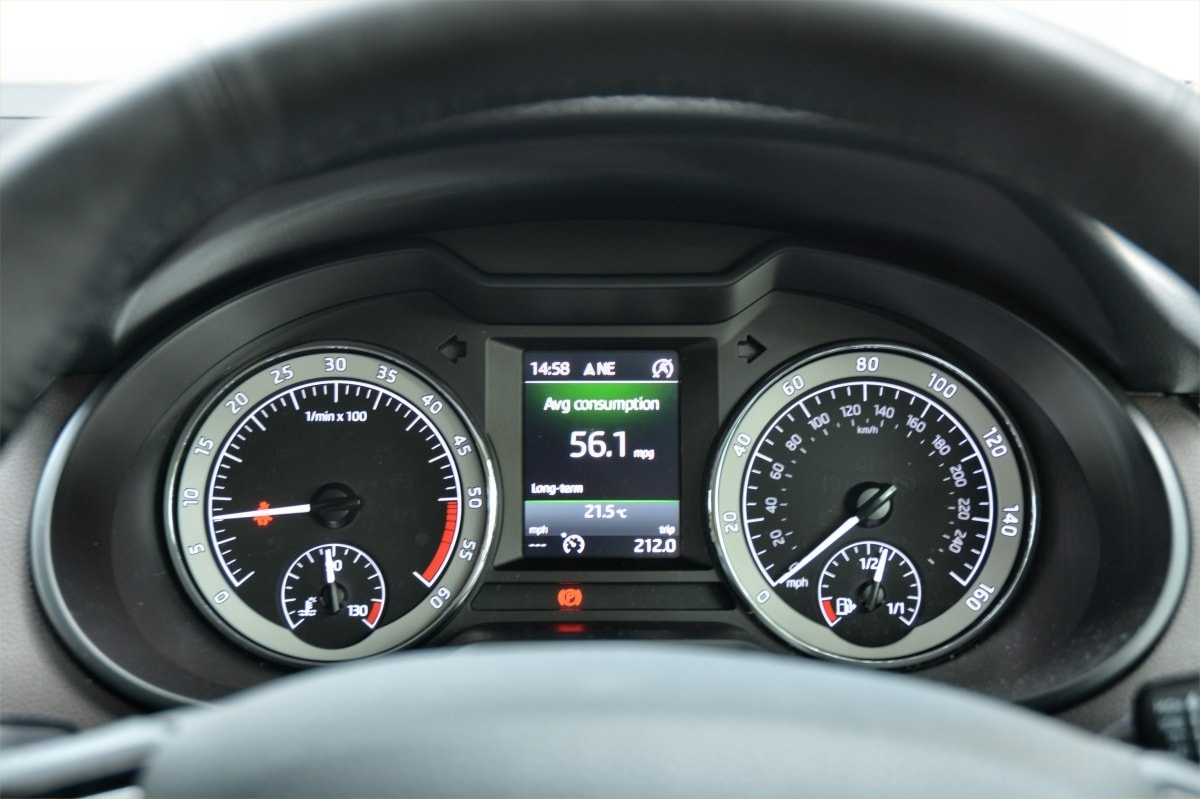 Skoda Octavia Estate dashboard
