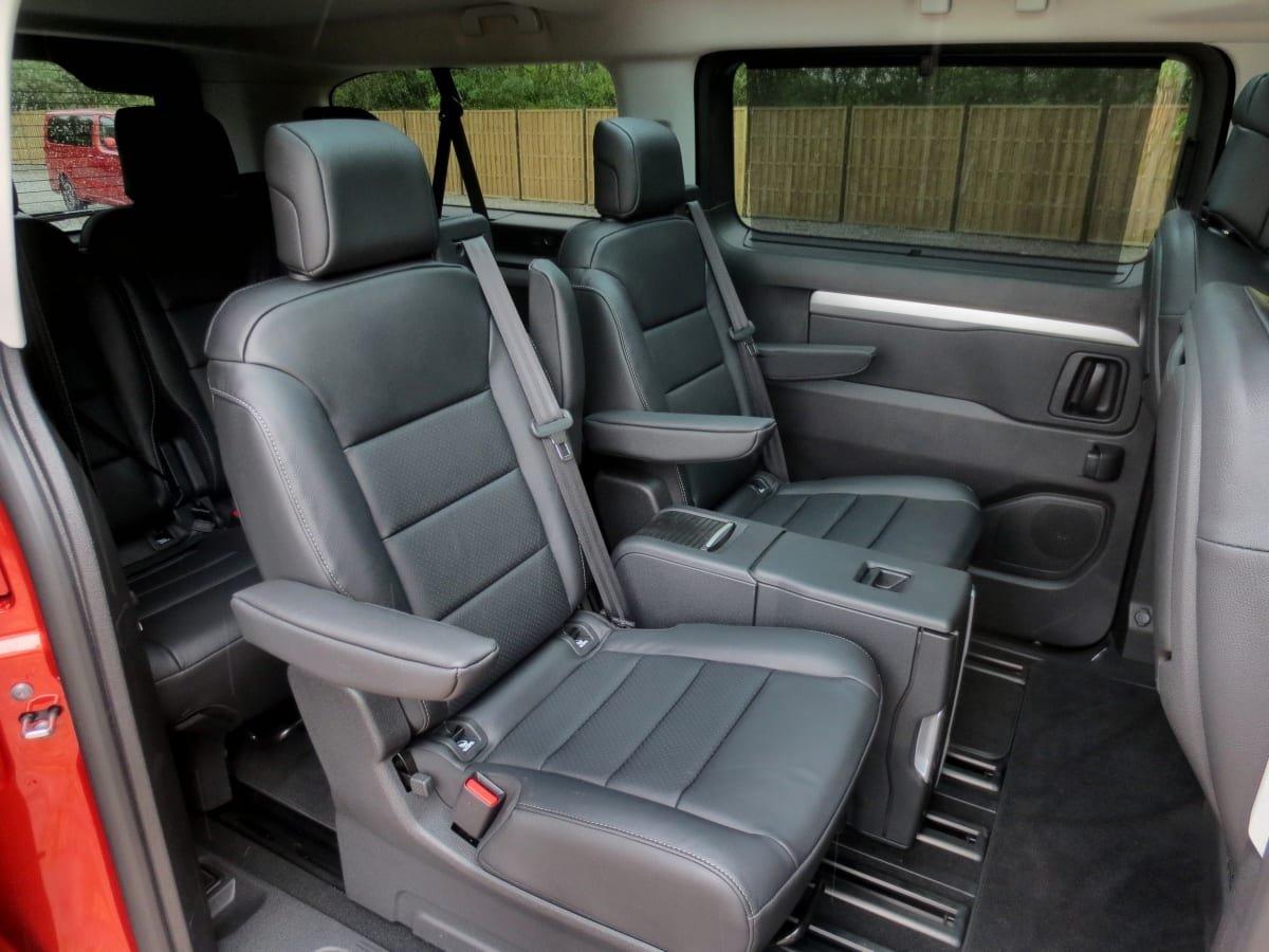 Vauxhall Vivaro Life rear seat