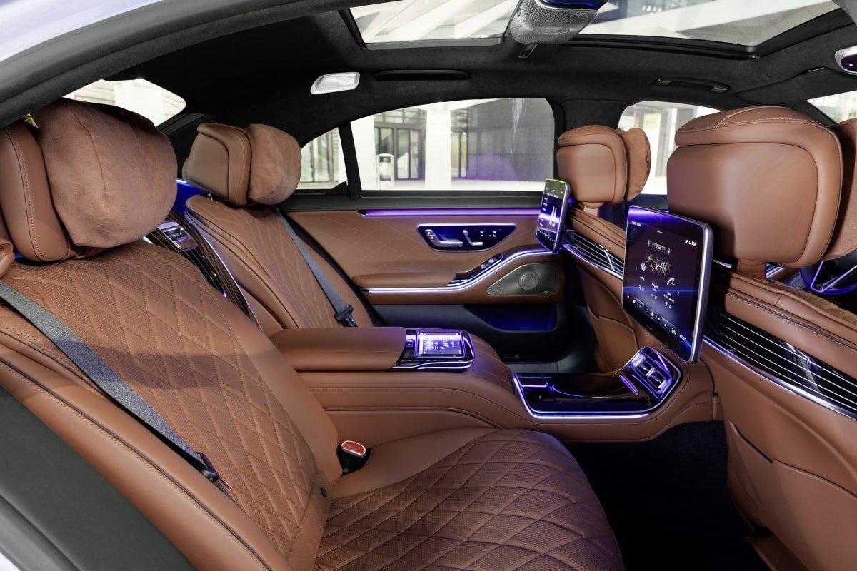 Mercedes S-class rear seat