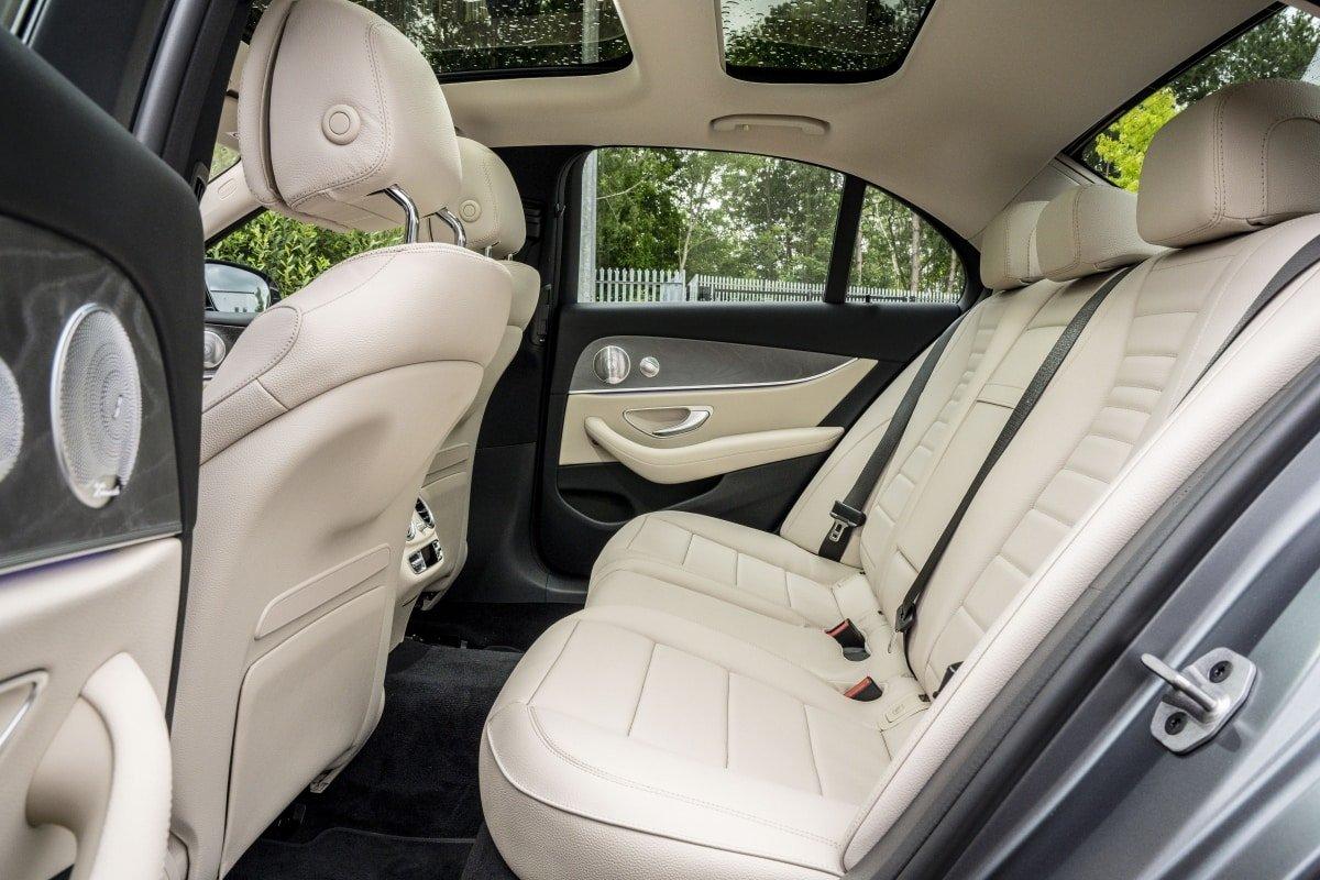 Mercedes E300de rear seat