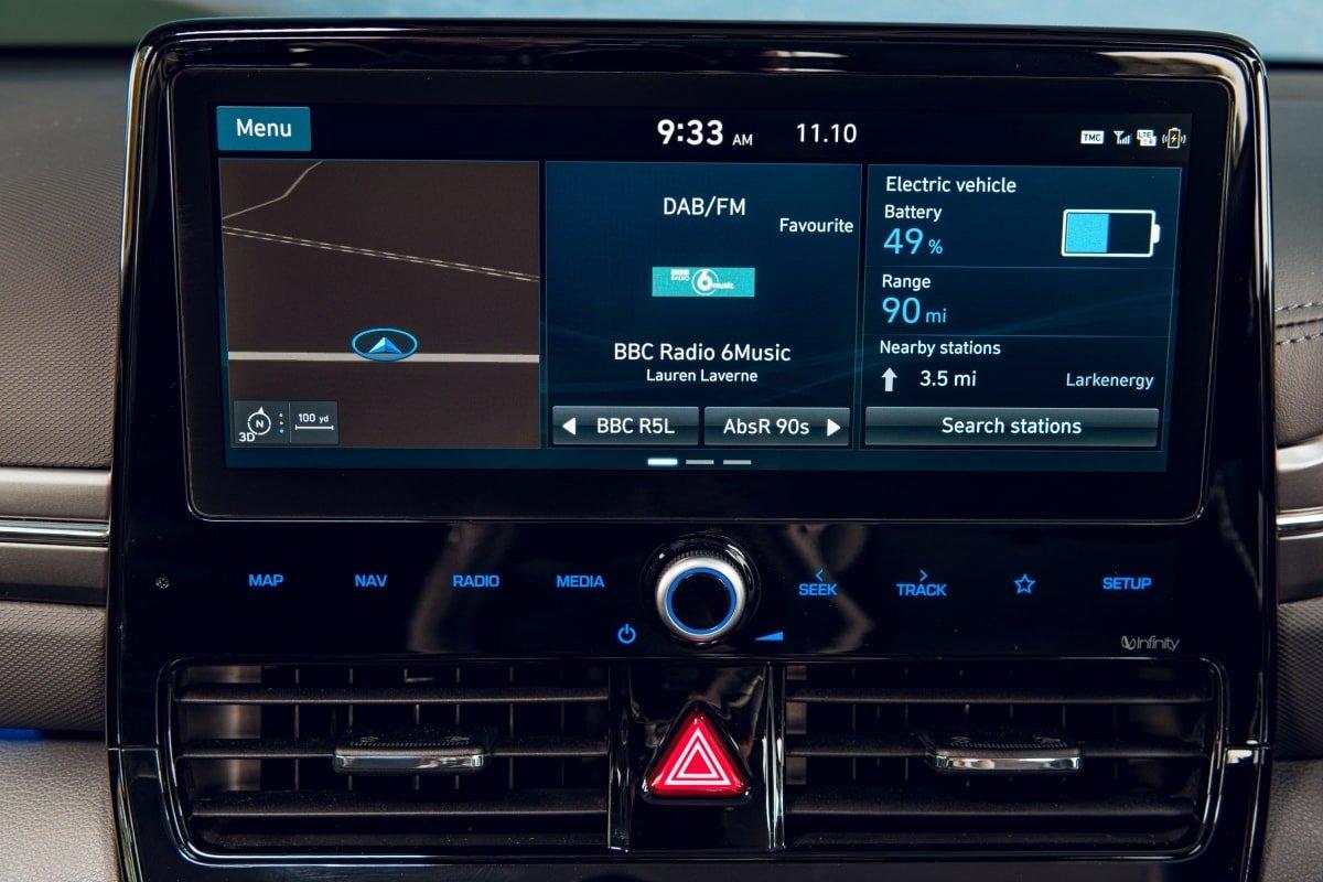 Hyundai Ioniq screen