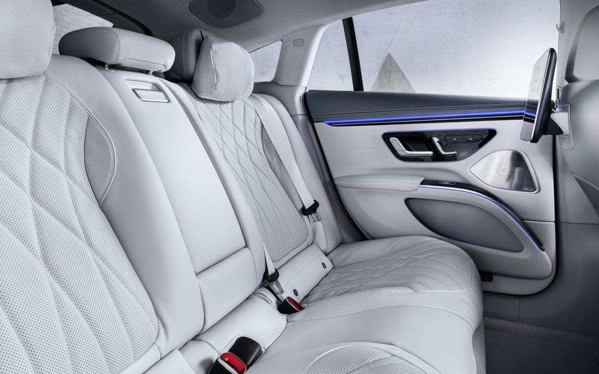Mercedes EQS back seat