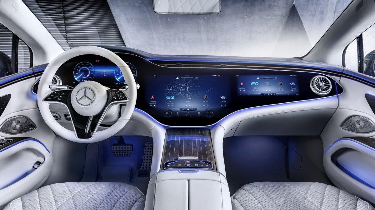 Mercedes EQS front seat